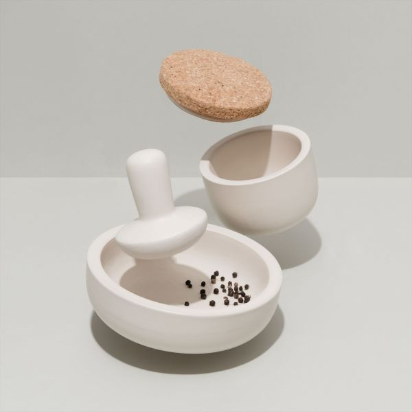 Mortar pestle large - Leo