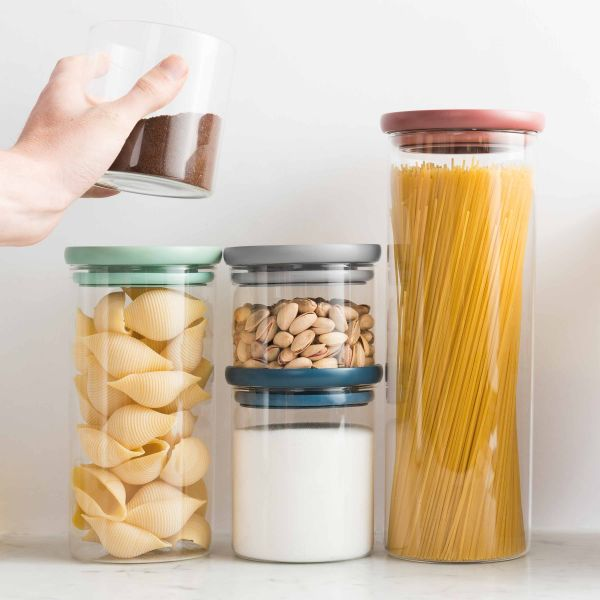 3-pc set glass food containers - Leo