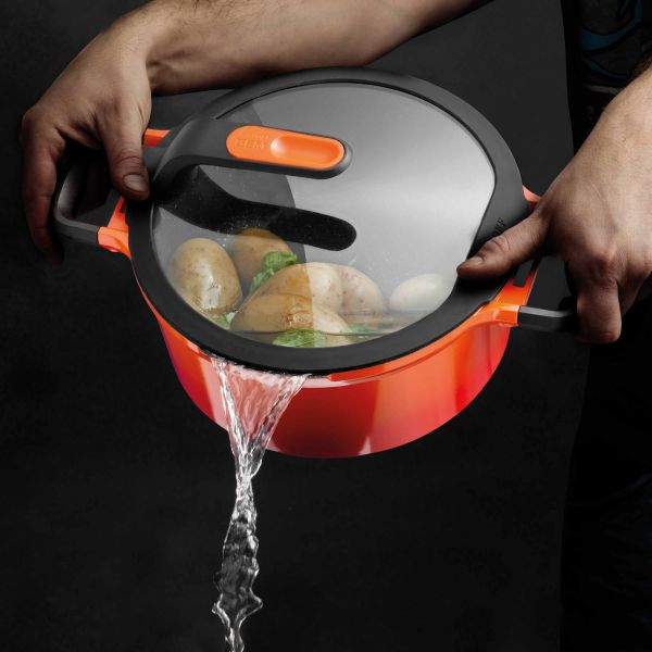 Covered stay-cool casserole orange 16 cm - Gem